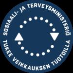 Sosiaali- ja Terveysministeriö tukee Veikkauksen tuotoilla.